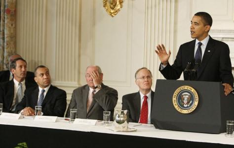 Image: Barack Obama, Mark Sanford, Deval Patrick, Sonny Perdue, Jim Douglas