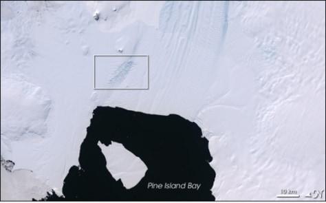 Image: Pine Island Glacier and iceberg