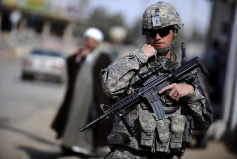 Image: U.S. soldier in Iraq