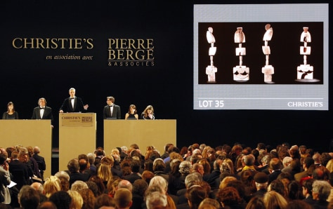 Image: Christie's auction from the art collection of Yves Saint Laurent in Paris
