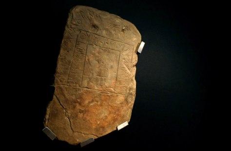 Image: Southwest Script on stone tablet
