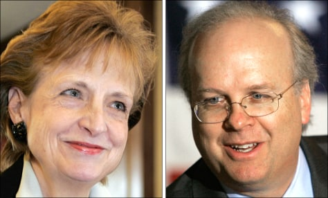 Image: Harriet Miers and Karl Rove