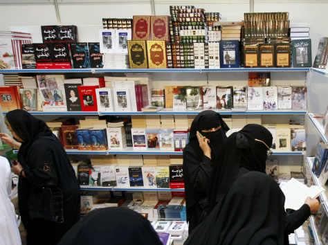 Image: Saudi Arabian women at book fair