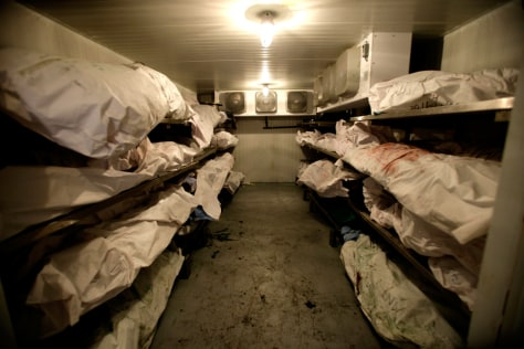 Image: Bodies awaiting autopsies