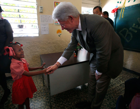 Image: Former U.S. President Bill Clinton in Haiti.