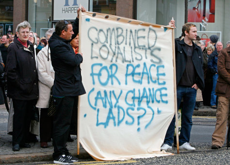 Image: Residents of Northern Ireland gather in Belfast for a peace vigil