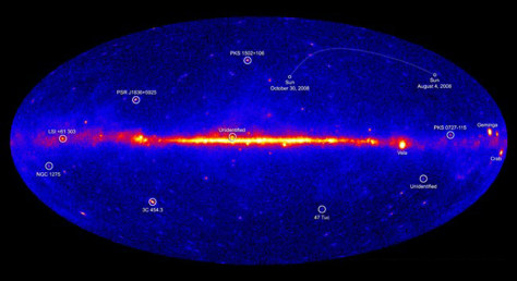Image: Portrait of the gamma-ray sky