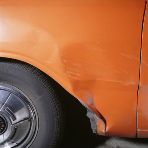 Image: Scratched car