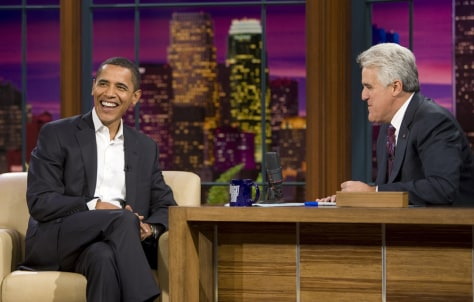 Image: Barack Obama, Jay Leno