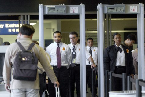 Image: TSA gate screening