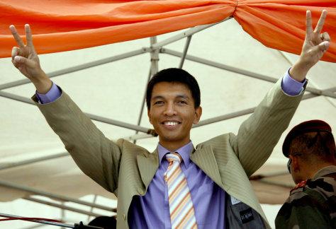 Image: Madagascar President Andry Rajoelina