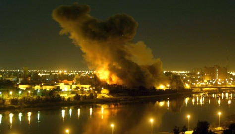 Image: Smoke billows from Iraq Planning Ministry