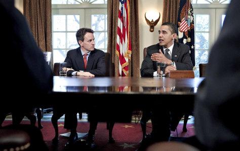 Image: Timothy Geithner, Barack Obama