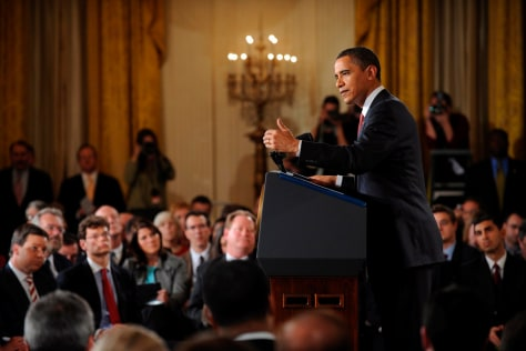 U.S. President Barack Obama holds press conference at White House