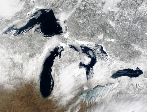 Image: Satellite view of Great Lakes