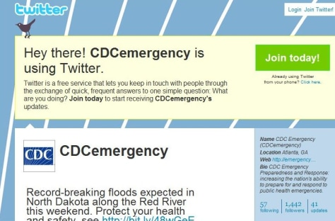 "Image: CDC ""tweet"" on Twitter"