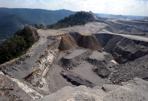 Image: Mountaintop removal mining site