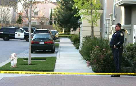 Image: Police officer at crime scene in Santa Clara, Calif.