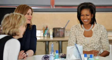 Image: First Lady Michelle Obama and Sarah Brown