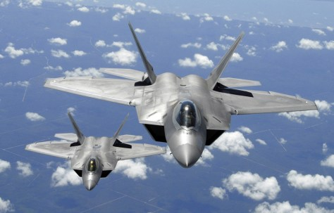 Image: Two U.S. Air Force F-22 Raptor aircraft