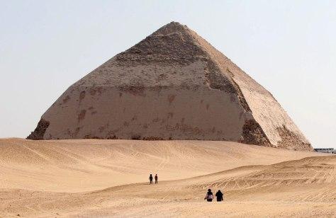 Image: 4,500 year old 'Bent Pyramid' of Dahshur