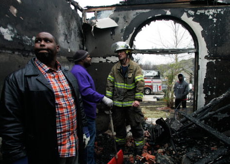 Image: Man inside destroyed home