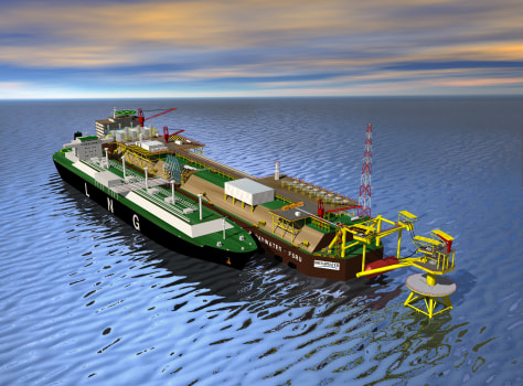 Image: Artist's concept of LNG terminal off Long Island