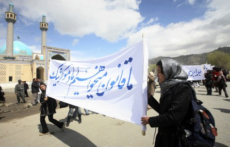 Image: Afghan protesters