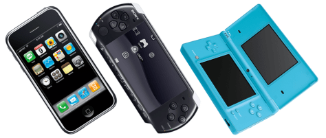 Image: Apple iPhone, Sony PSP, Nintendo DSi