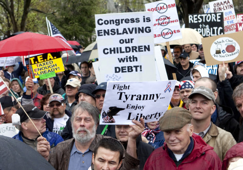 Image: Tea party protest in D.C.