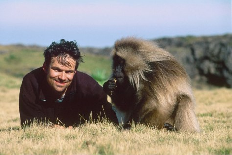 Image: Movie director with chimp