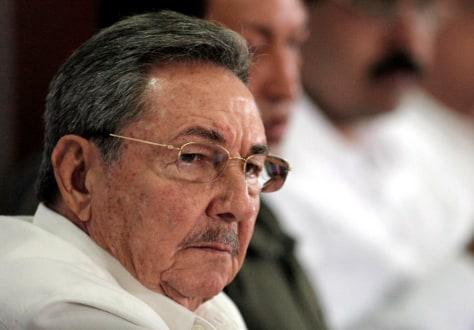 Image: Cuban President Raul Castro