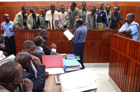 Image: Somali men on trial in Kenya