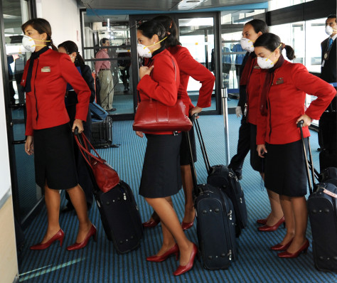 Image: Lan Air airlines flight attendants