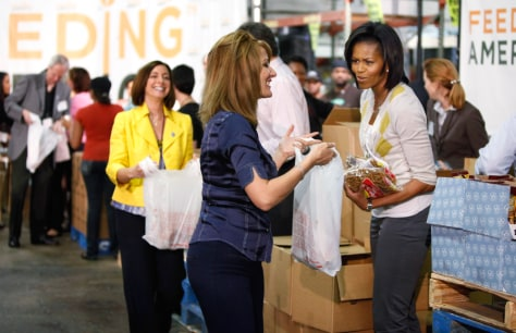 Image: Michelle Obama, food bank