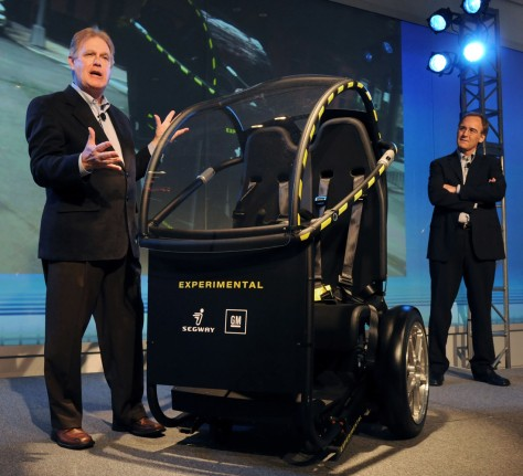 Image: Segway Inc. CEO Jim Norrod unveils Project P.U.M.A. electric two-seat prototype vehicle
