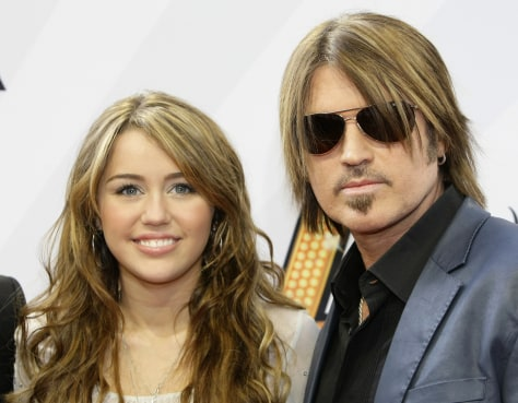 Image: Miley and Billy Ray Cyrus