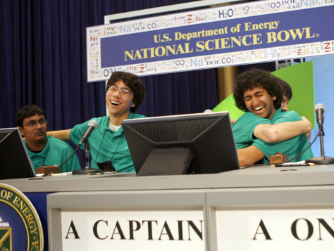 Image: Victorious Mira Loma High School science team