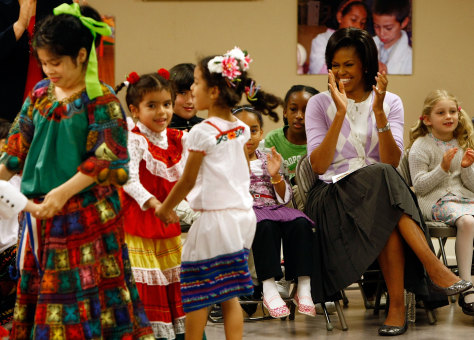 Image: Michelle Obama Aat Cinco de Mayo celebration.