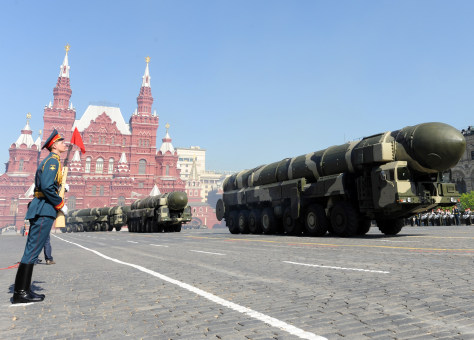 Image: Russian intercontinental ballistic missiles in Moscow's Red Square