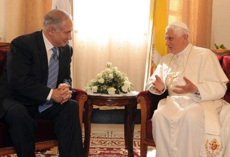 Image: Israeli Prime Minister Benjamin Netanyahu, Pope Benedict XVI