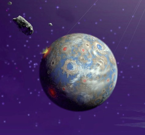 Image: Illustration of bombardment of Earth