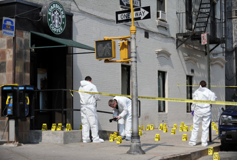 Image: Scene of an explosion outside a Starbucks coffee shop