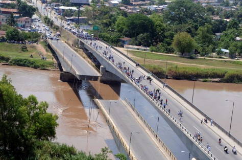 Image: Bridge collapse in Honduras due to earthquake