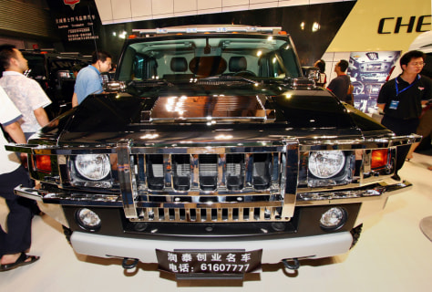 Image: Hummer at China show