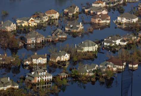Image: Flooded neighborhoods in New Orleans
