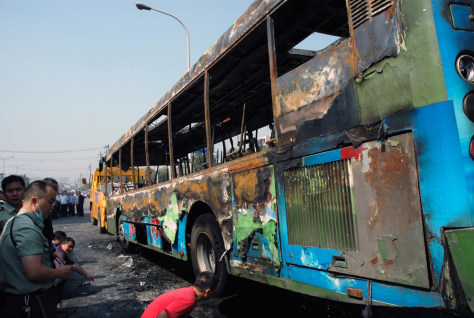 Image: China bus fire