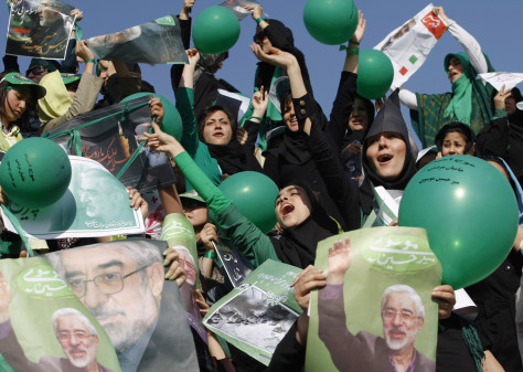 Image: Iran election rally