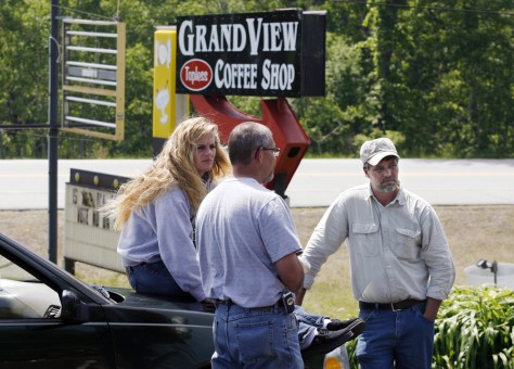 Image: Donald Crabtree, owner of the Grand View Topless Coffee Shop