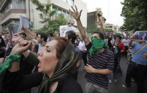 Image: Election protests in Tehran, Iran